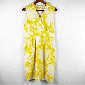 ELIZA J Yellow and White Sleeveless Sundress - 10